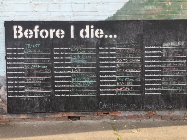 before I die wall Mt Vernon