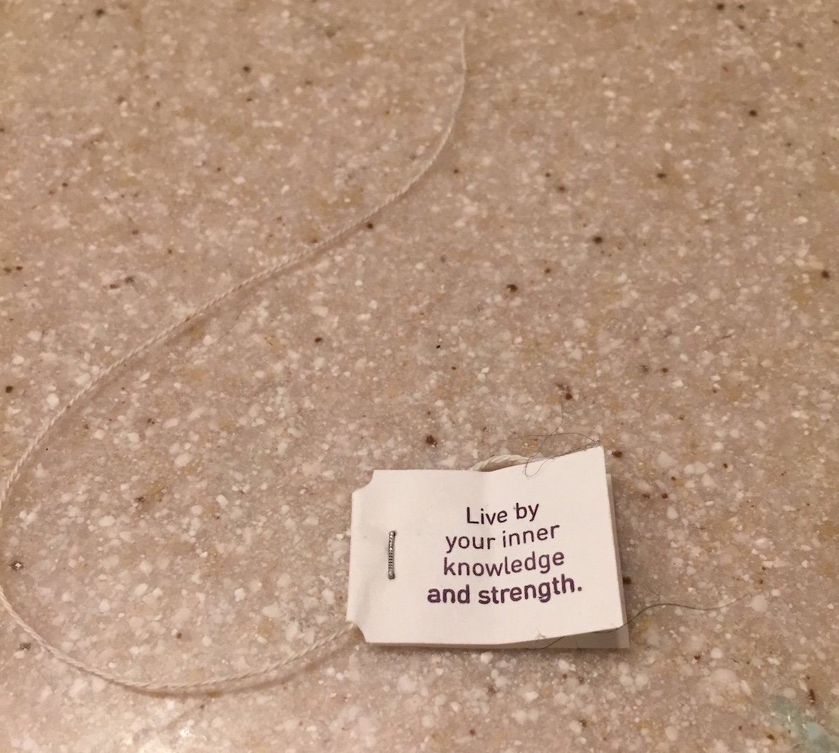 Live by your inner knowledge and strength message from a fortune