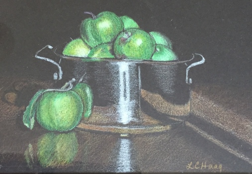 lisa colored pencil fruit in soup pot