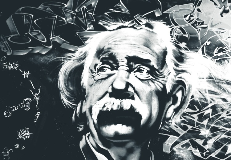 stylized photo of Albert Einstein