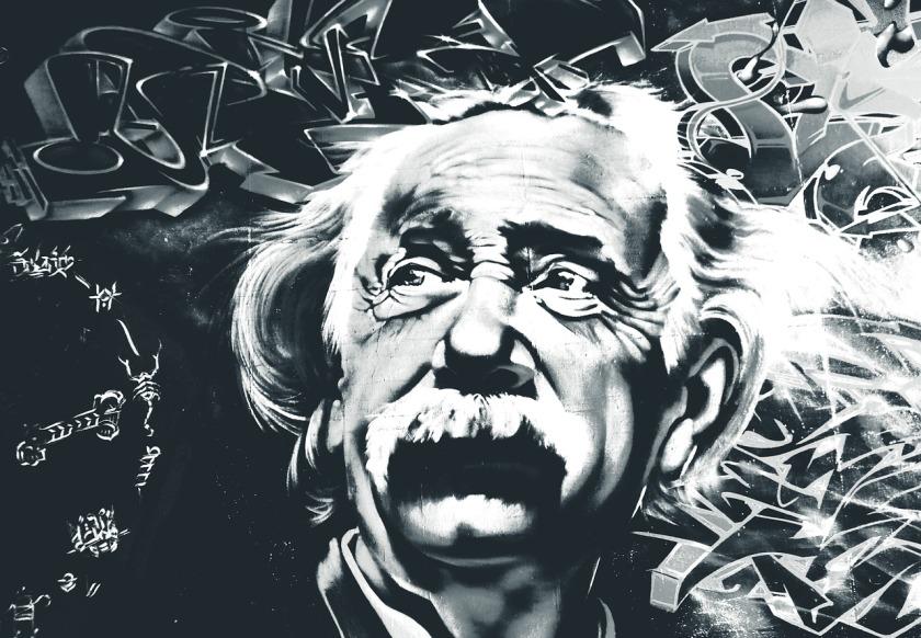 stylized photo of Albert Einstein