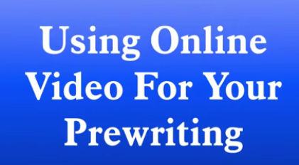 using online video for your prewriting title slide