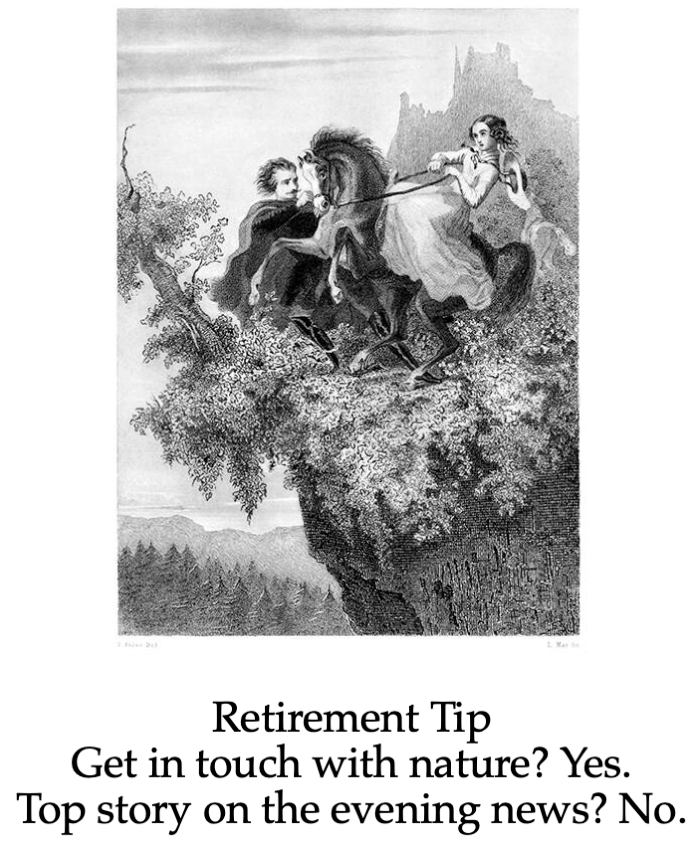 Retirement Tip nature evening news reduced edited
