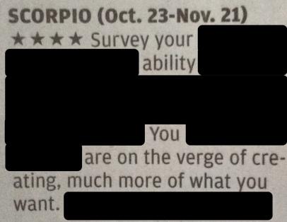 horoscope scorpio survey ability