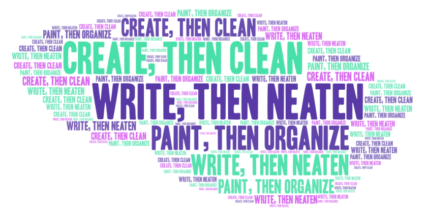 write first word cloud