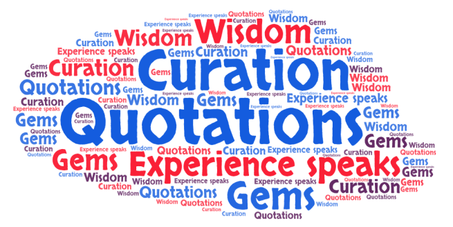 Quotations word cloud