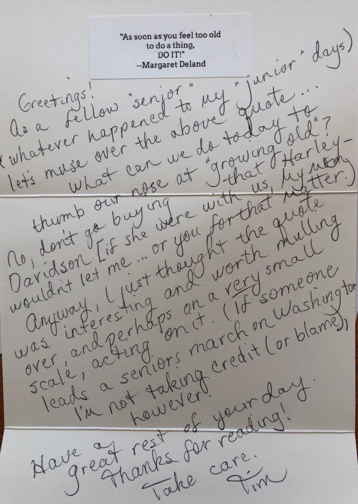 note to an elder
