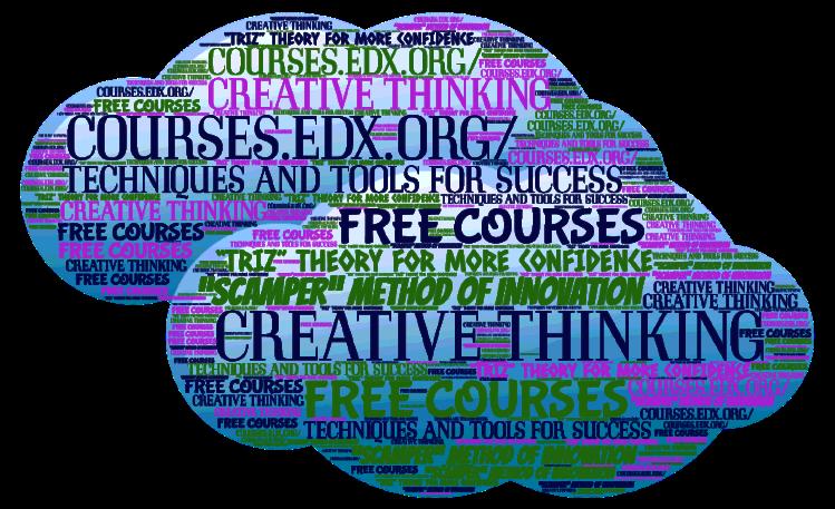 Free creativity courses word cloud 2