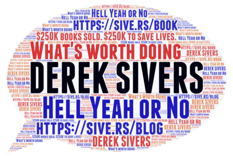 Derek-Sivers-Word-Cloud what's worth doing